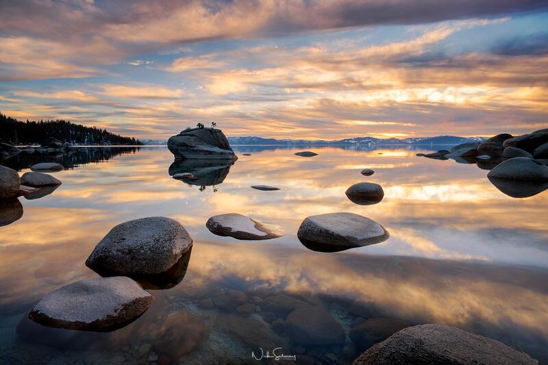 Bonsai Rock Reflection