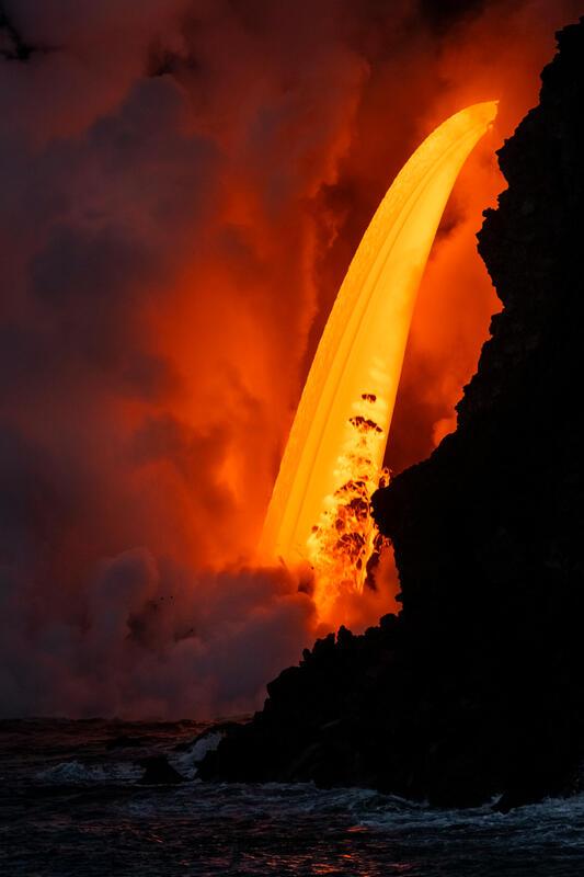Lava Waterfall Hawaii Photography for Sale