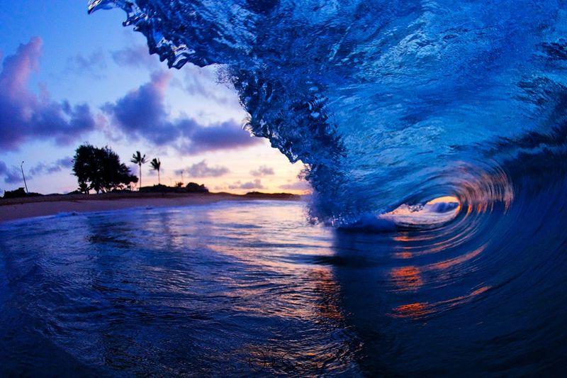 Sunrise Hawaii Maui Wave Photography for Sale