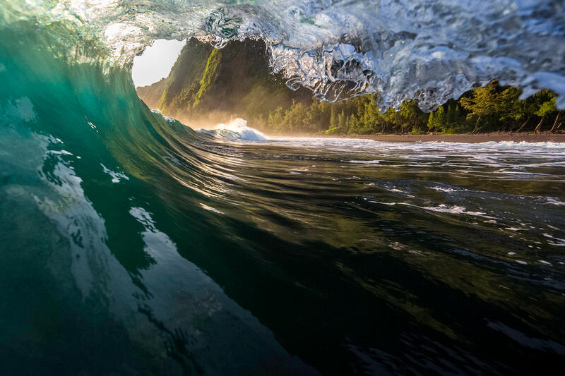 Black Sand Beach & Wave Images for Sale
