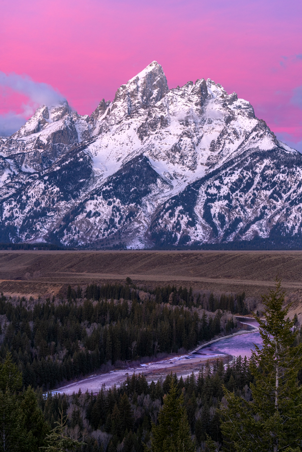 This viewpoint is famous for Ansel Adams' iconic photo of the Tetons and Snake River in 1942.  Ansel Adams, an American photographer...
