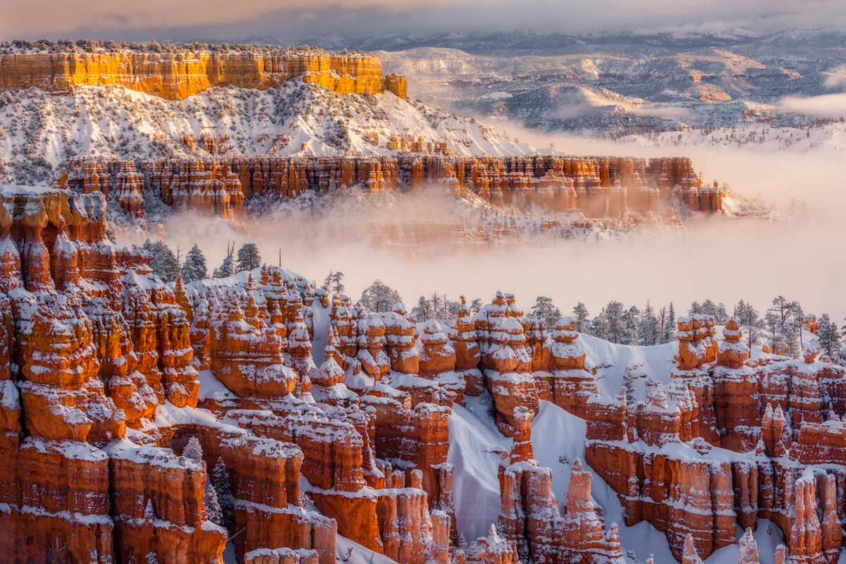 After driving  through the night 10 hours in a huge snow storm from Breckenridge, Colorado I finally arrived to Bryce Canyon...