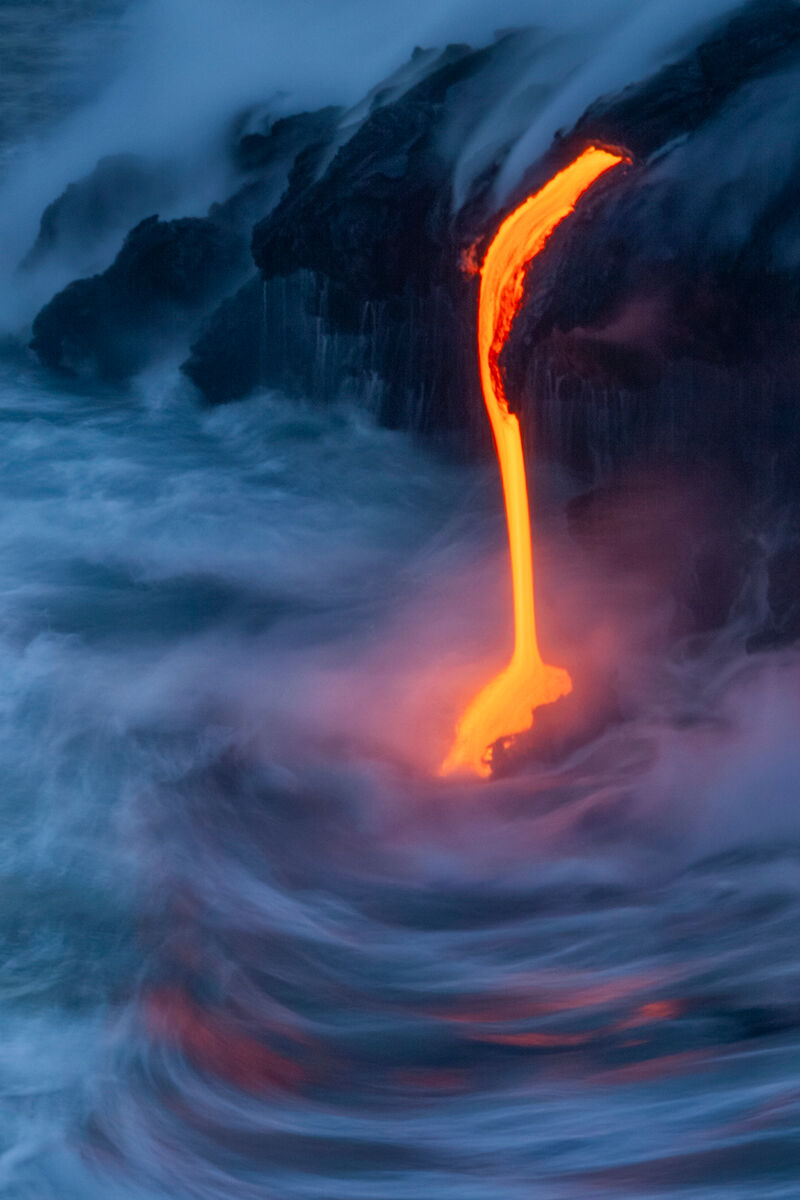 Hawaiian Waterfall of Lava Images for Sale