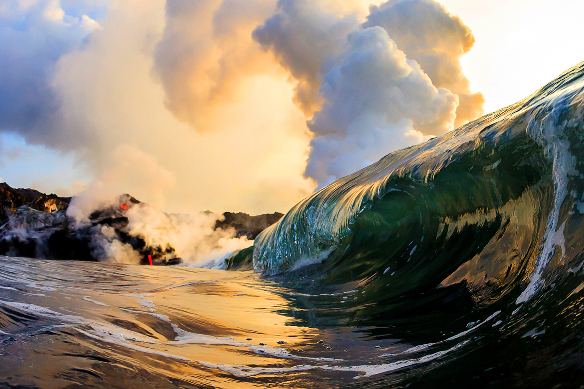 """In 2010 my best friend Cj Kale and I became the first and only photographers in the world to shoot what we call """"Lava Wave Photography..."""