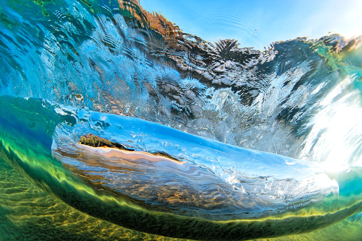 Stained Glass Wave Image for Sale